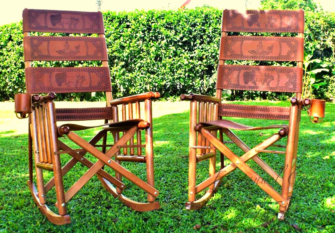 Value Pak 01 2 High Back Costa Rica Rocking Chairs Free Shipping