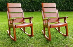 ValuePak03 - 2 Presidential Rocking Chairs + 2 Head Cushions + Free Shipping & Engraving