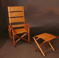 ValuePak05 - 1 Costa Rica Rocking Chair + Foot Stool + 50% OFF Shipping + FREE Engraving