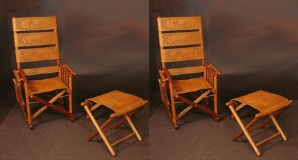 ValuePak06 - 2 Costa Rica Rocking Chairs + 2 Foot Stools + 50% OFF Shipping + Engraving