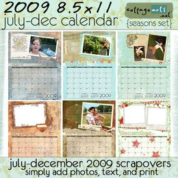 2009 8.5x11 Calendar Pak - Seasons - July-December