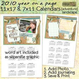 2010 11x17 & 7x11 Yearly Calendars - Adventure {landscape}