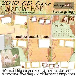 2010 CD Case Calendar Pak - Everyday