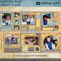 Birthday Bash 6-Pak ScrapOver Album