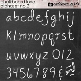Chalkboard Love 2 AlphaSet