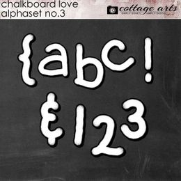 Chalkboard Love 3 AlphaSet