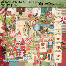 Gingerbread Christmas Page Pak