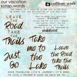 Our Vacation Scrap.Words