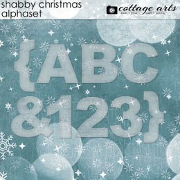 Shabby Christmas AlphaSet