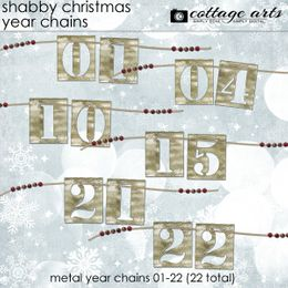 Shabby Christmas Year Chains