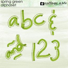 Spring Green AlphaSet