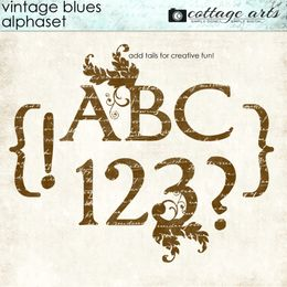 Vintage Blues AlphaSet