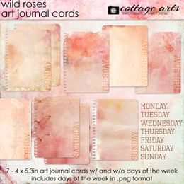 Wild Roses Art Journal Cards