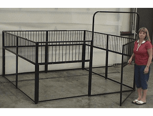 CMI 8 ft. W x 8 ft. L Mini Horse Stall ( no lumber included)