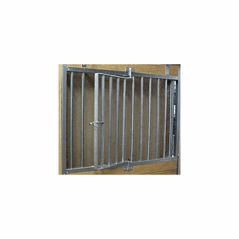 Galvanized Horse Stall Grill with Swingout Section