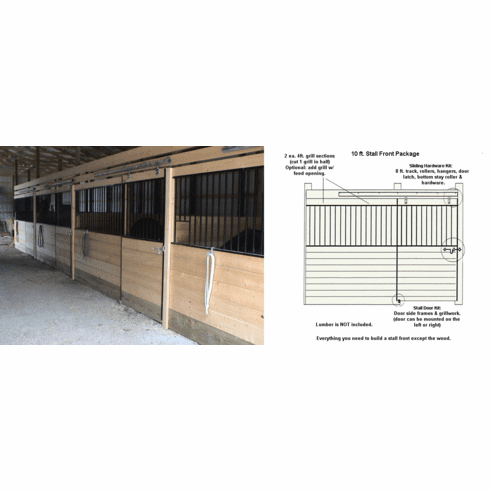 Horse Stall Front Package 10ft.