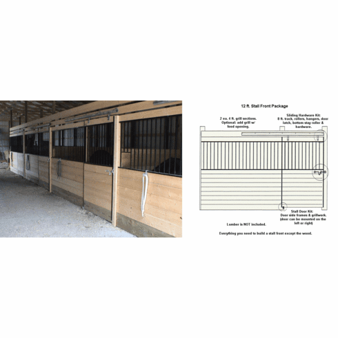 Horse Stall Front Package 12ft