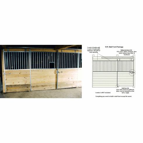 Horse Stall Front Package Galvanized 10ft