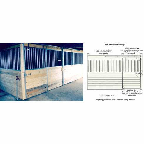 Horse Stall Front Package Galvanized 12ft