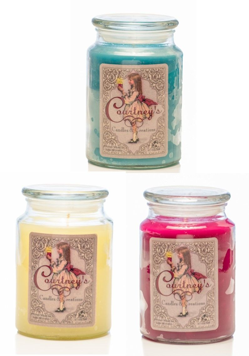 26 oz Large Glass Jar Candleberry Country Rain Premium Fine Fragrance Candle The Home