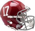 Alabama Crimson Tide #17 Riddell NCAA Full Size Deluxe Replica Speed Football Helmet