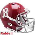 Alabama Crimson Tide #18 Riddell NCAA Full Size Deluxe Replica Speed Football Helmet