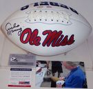Archie Manning - Autographed Ole Miss Full Size Logo Football - PSA/DNA