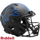 Barry Sanders - Autographed Detroit Lions Riddell Eclipse Speed Full Size Authentic Football Helmet
