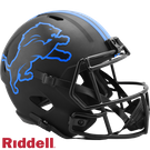 Barry Sanders - Autographed Detroit Lions Riddell Eclipse Speed Full Size Replica Football Helmet