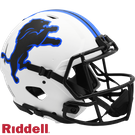 Barry Sanders - Autographed Detroit Lions Riddell Lunar Eclipse Speed Full Size Authentic Football Helmet