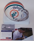 Bob Griese - Autographed 2-Bar Throwback Mini Helmet - Miami Dolphins - PSA/DNA
