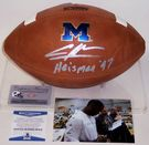 Charles Woodson - Autographed Wilson Official Leather Michigan Wolverines NCAA Football - F1008 - BAS Beckett Authentication