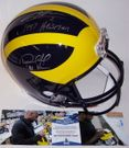 Charles Woodson / Desmond Howard - Autographed Full Size Riddell Football Helmet - Michigan Wolverines - BAS Beckett
