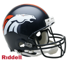 Denver Broncos Riddell Authentic NFL Full Size On Field Proline Football Helmet