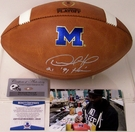 Desmond Howard - Autographed Wilson Official Leather Michigan Wolverines NCAA Football - F1008 - BAS Beckett