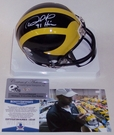 Desmond Howard - Riddell - Autographed Mini Helmet Michigan Wolverines - BAS Beckett