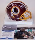 Doug Williams - Riddell - Autographed Mini Helmet w/SB XXII MVP - Washington Redskins - BAS Beckett