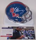 Eli Manning Manning - Riddell - Autographed Speed Mini Helmet - Ole Miss Rebels - PSA/DNA