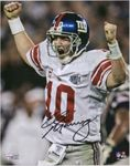 Eli Manning - New York Giants - Autograph Signing - Deadlline for Mail in June 10th, 2021