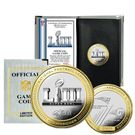 Highland Mint -  Patriots vs Rams Super Bowl LIII 53 Official Two Tone Flip Coin - Official Game Coin - Limited Edition