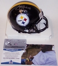 Joe Greene - Riddell - Autographed Mini Helmet  w/HOF 87 - Pittsburgh Steelers - BAS Beckett