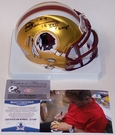 Joe Theismann - Riddell - Autographed BLAZE Speed Mini Helmet - Washington Redskins - BAS Beckett Authentication