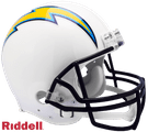 Justin Herbert - Autographed Los Angeles Chargers Riddell Full Size Authentic Pro Football Helmet
