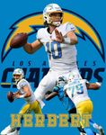 Justin Herbert - Los Angeles Chargers -Autograph Signing Deadlline for Mail in items June 29th, 2021