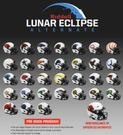 Lunar Eclipse Alternate Speed Riddell Football Helmet - NFL - Mini, Full Size Replica, Full Size Authentic