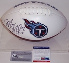 Marcus Mariota - Autographed Tennessee Titans Full Size Logo Football - PSA/DNA
