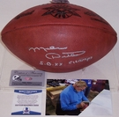 Mike Ditka - Autographed Official Wilson Leather Super Bowl XX NFL Football - BAS Beckett