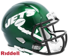 New York Jets Speed Revolution Riddell Mini Football Helmet