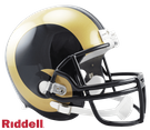 Isaac Bruce - Autographed St. Louis Rams Riddell Full Size Deluxe Football Helmet