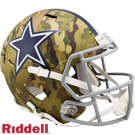 Troy Aikman - Autographed Dallas Cowboys Riddell Camo Speed Full Size Deluxe Football Helmet